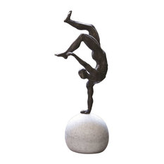 One Hand Balancing Act Tabletop Sculpture