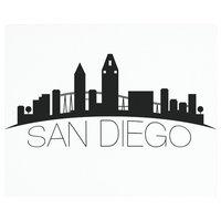 "Vance 12x10"" San Diego Skyline Saver Tempered Glass Cutting Board"