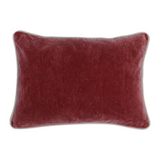 "Harriet Velvet 14""x20"" Rectangular Pillow, Red by Kosas Home"