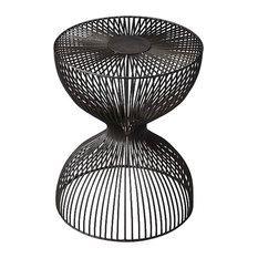 Nicholas Hallway Iron Cage Bunching Table Black