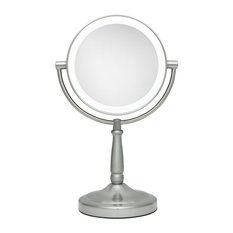 Zadro Cordless Dual-Sided LED Lighted Vanity Mirror With Magnification