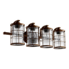Quorum Ellis 4-Light Vanity, Oiled Bronze