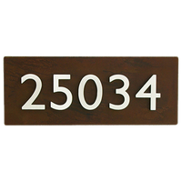 Curb Appeal Address Plaque w/ 5 Numbers, Rust