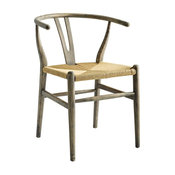 Amish Dining Wood Side Chair, Weathered Gray