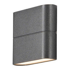 Konstsmide UK Ltd - Chieri Up Down Outdoor Wall Light, Anthracite, Small - Outdoor Wall Lights