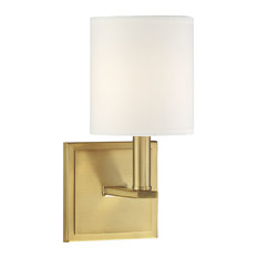 Waverly 1-Light Sconce, Warm Brass
