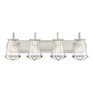 Designers Fountain 87004 Darby Vanity Light Bathroom Fixture, Satin Platinum