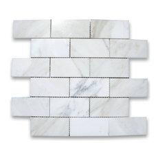 "12""x12"" Calacatta Gold Grand Brick Subway Mosaic Tile Polished"