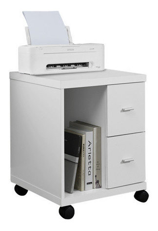 Pavel 2 Drawer Rolling Filing Cabinet Contemporary Filing Cabinets By Monarch Specialties