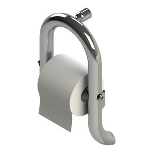 Invisia Luxurious Toilet Paper Holder With Support Rail, Polished Chrome
