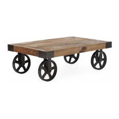 shop industrial factory cart coffee table products on houzz