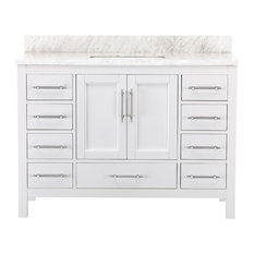 Kendall White Bathroom Vanity, 48""