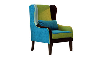 Wingback Chair Multi Coloured