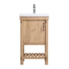 "Marina 20.5"" Bathroom Vanity, Driftwood Finish"