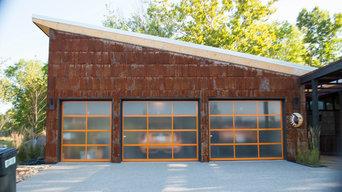 Orange Aluminum & Glass Full Vision Garage Doors