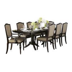 homelegance homelegance marston double pedestal dining table in dark espresso dining tables