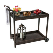 GDF Studio Baja Outdoor Wicker Bar Cart