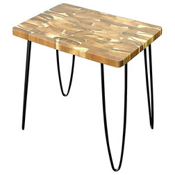 Rustic Side Tables And End Tables Acacia Wood Side Table With 4 Metal Legs