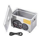 Stainless Steel Ultrasonic Cleaner Heater Timer Jewelry Glasses Lab Home, 3L