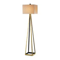 Bel Mondo Floor Lamp, Gold Currey In A Hurry