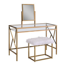 Furniture Of America E Commerce By Enitial Lab   Lillian Contemporary Glass  Vanity Table With