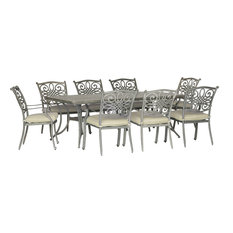 """Traditions 9-Piece Dining Set With Chairs and 42""""x84"""" Dining Table"""