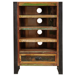 1 Drawer Urban Chic Reclaimed Wood Entertainment Cabinet