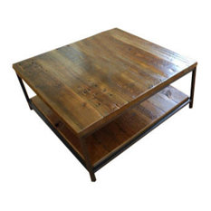 "Urban Wood Goods - Sustainable Urban Wood and Steel Coffee Table, Standard, 48""x24"" - Coffee Tables"