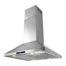 """AKDY Home Improvement - AKDY 30"""" Stainless Steel Island Mount Range Hood, Ducted - Range Hoods and Vents"""
