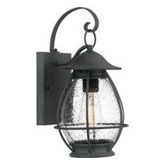 Boston 1 Light Outdoor Lantern, Mottled Black
