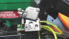 Help please - chainsaw starts fine but dies when given gas