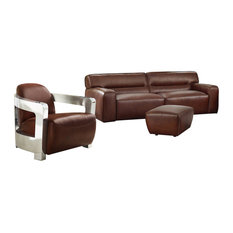 Sunset Trading Milan Leather 3 Piece Living Room Set