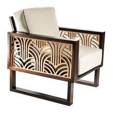 Superior Twist Modern   Twist Modern Art Deco Lounge Chair, Espresso/Natural    Armchairs And