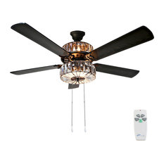 Caged Crystal Ceiling Fan