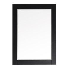"Florence 30"" Rectangular Bathroom/Vanity Framed Wall Mirror, Espresso"