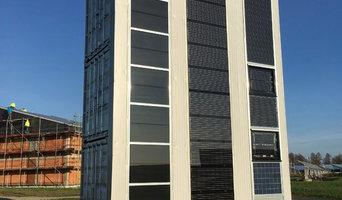 FassadenTeststand für Fotovoltaik
