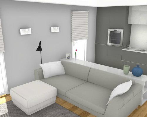 L 39 eleganza del nero progettazione soggiorno con cucina a for Soggiorno con cucina a vista