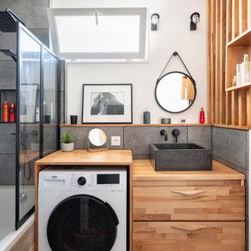 rénovation et aménagement d'un appartement au style bohème chic