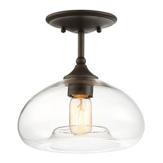 Bay - Verona 1-Light Semi-Flush Mount Oil Rubbed Bronze - Flush  sc 1 st  Houzz & 50 Most Popular Flush-Mount Ceiling Lights for 2018 | Houzz