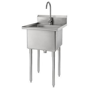 24 Near Zero Radius Utility Laundry Sink Top Mount Undermount