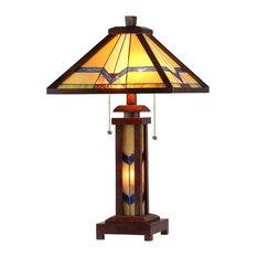 Wonderful CHLOE Lighting, Inc.   Alexander 3 Light Mission Double Lit Wooden Table  Lamp