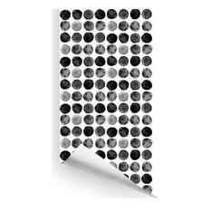 Gum Drop Wallcovering, Black & Grey, Sample, Peel and Stick