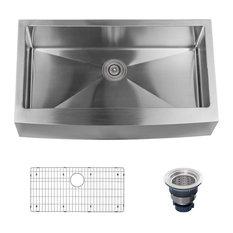 "Miseno MSS3620F Farmhouse 36"" Single Basin Stainless Steel Kitchen Sink"