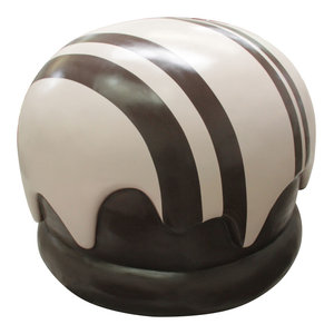 """36"""" Chocolate Truffle With White Strips"""