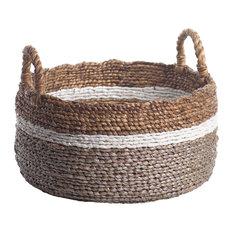 Fulki Seagrass & Water Hyacinth Baskets, Set of 2