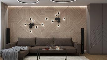 Дизайн гостиной в ЖК Ново-Патрушево