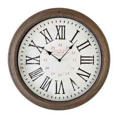 EMDE Round Taupe Wall Clock