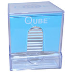 Goren Enterprises - Qube Cotton Swab Dispenser With Refill - Our beautiful cotton swab dispenser with refill is a great addition to any home. It makes it easy to store and dispense your cotton swabs/Q-tips.