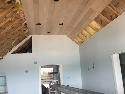 Maple Tongue Groove Ceiling Buckling