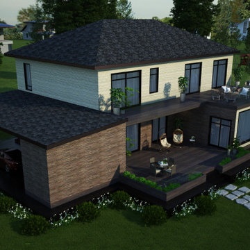 Contemporary country house with terrace